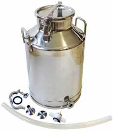 Stainless Steel Milk Bottling Can with Valve Accessories- 3 Sizes