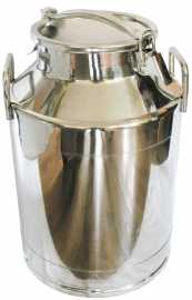 Stainless Steel Milk Transport Cans - 3 Sizes