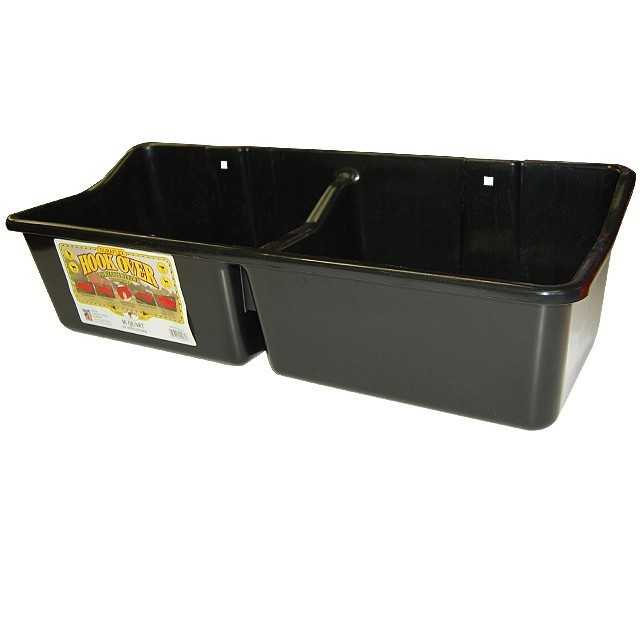 16 Qt. Double Compartment Hook-Over Feeder