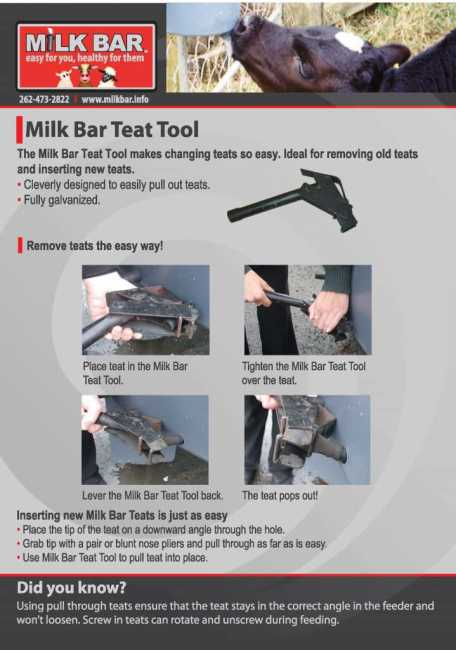 Milk Bar Teat Tool