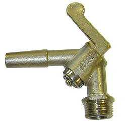 Threaded Angle Brass Pneumatic Stallcock--3/8""