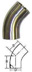 45-Degree Bend (Weld/Weld)--1""