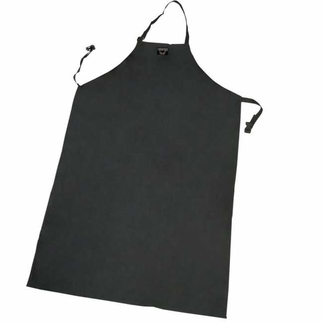 Extra-Long Waterproof Nylon Apron - Black