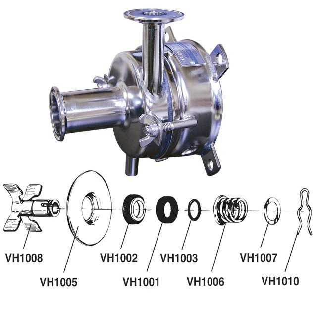 4-Blade Impeller f/ Milk Pump
