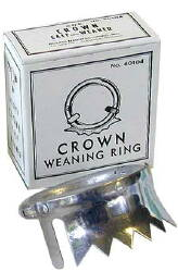 Crown-Style Aluminum Weaner--Calf Size