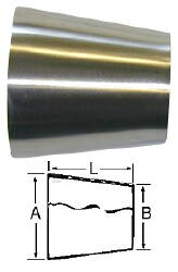 "Concentric Reducer (Weld/Weld)--4"" to 1.5"""