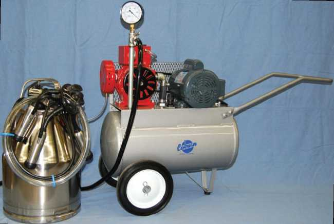PortaMilker Kit for 2 Cows with Electric Motor