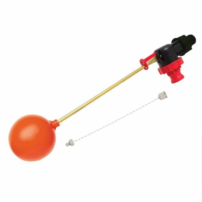 "Xcess 3 / 4"" & 1"" Trough Valve with Cord, Nipple & Float Ball"