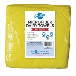Yellow Microfiber Dairy Towels--pk/50
